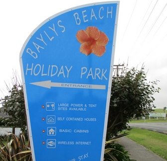 Image of the front of Baylys Beach Holiday Park