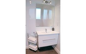 2-bedroom unit bathroom sink