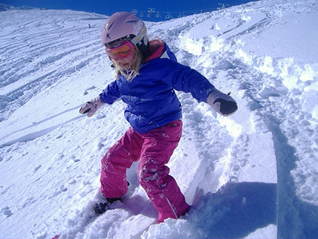 Playing in the Ohakune snow