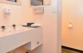fully-equipped bathroom