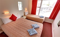 free 2 hours internet, spacious kitchen and lounge and their own car parking with internal access