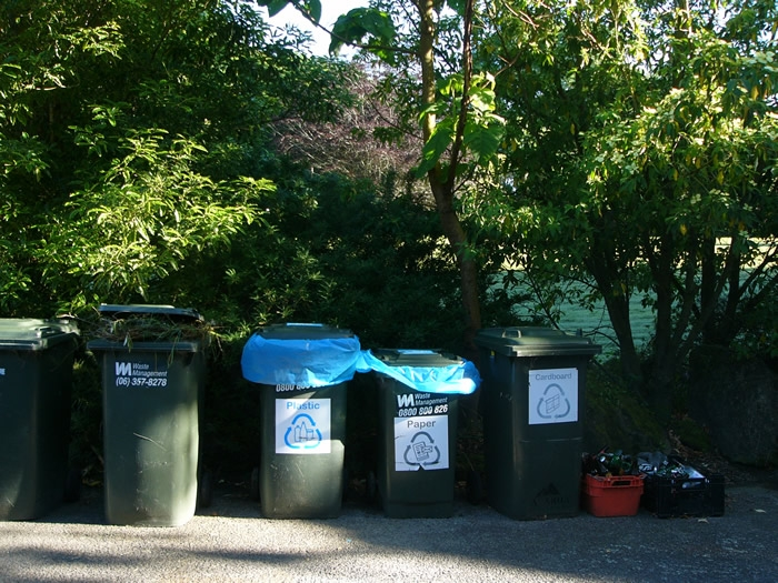 recycling and rubbish facilities