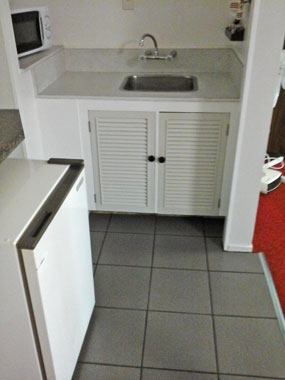 microwave and fridge available in the units