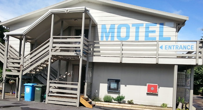 two-level motel complex