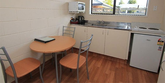standard studio unit cooking facilities