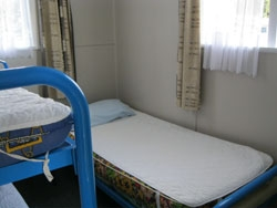 1 bunk bed and 1 single bed