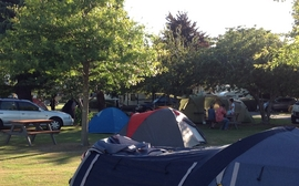 camping ground close to the shopping centre