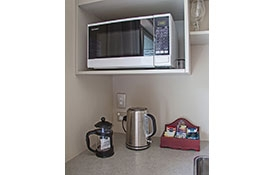 small kitchenette of the Compact Studio