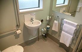 bathroom of compact studio