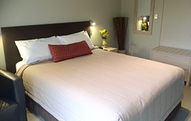 queen-size bed in the room
