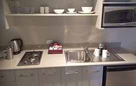 kitchen facilities available in the room