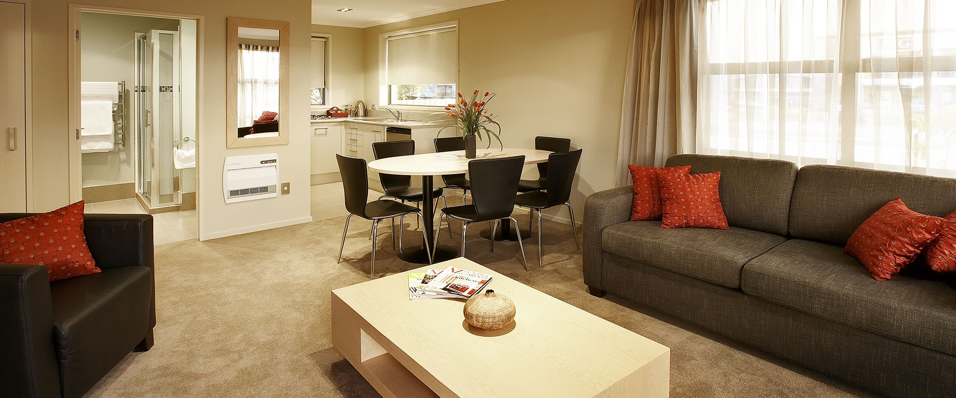 fully furnished modern accommodation in Christchurch