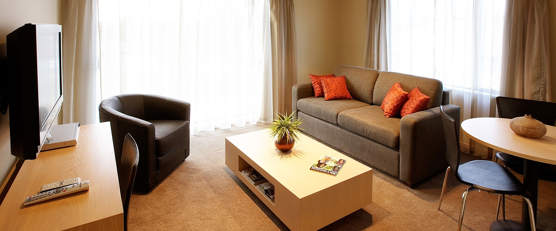 self-contained apartments ideal for families