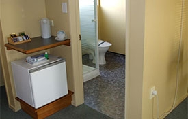 ensuite bathroom and tea-coffee-making facilities in the studio units