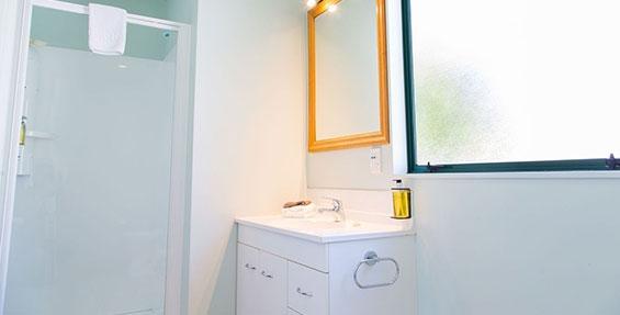 private bathroom of studio unit
