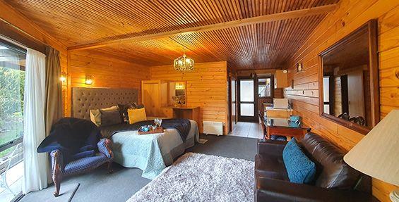 lovely pine wood framed interior