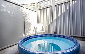 heated mineral pools