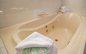 spa bath in the unit