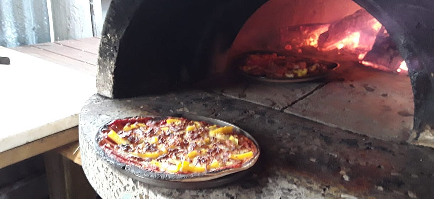 wood-fired pizza oven available