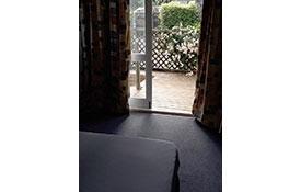 looking out standard cabin door