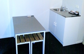 small kitchenette available in ensuite cabins
