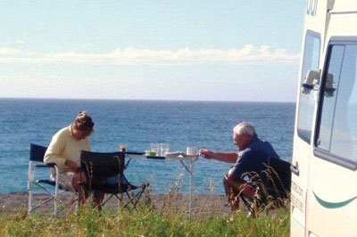 enjoy your meal while looking at wonderful sea and mountain views
