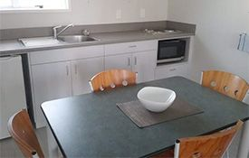 1-bedroom family dining and kitchen