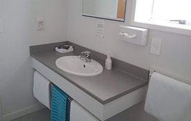 1-bedroom unit bathroom