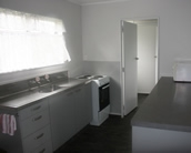 full kitchen facilities and dining area