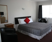 studio units with 1 queen-size and 1 single bed, Kitchenette and bathroom