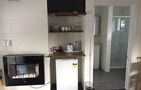 kitchenette and heater available for guests use