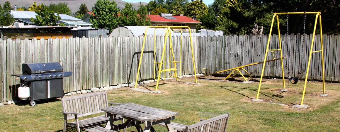 playground and gas BBQ available