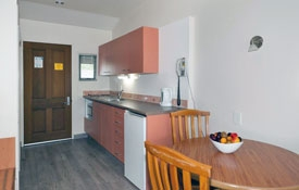 kitchen of studio apartments