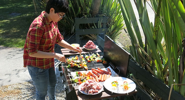 cook your food in outdoor bbq area