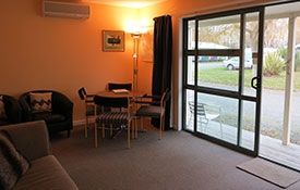 ground floor unit which can accommodate up to 6 guests