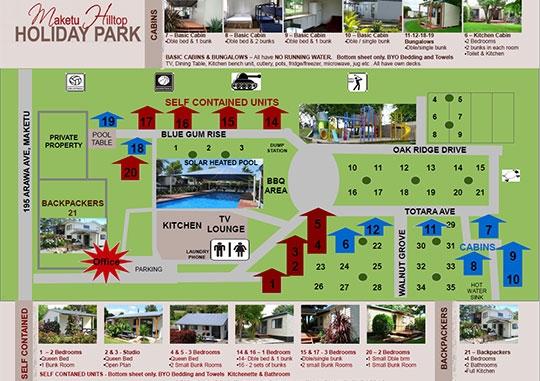 Maketu Holiday Park Facilities Sitemap