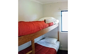 self-contained 3-bedroom cabin bunks