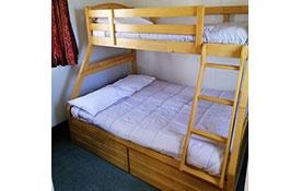 bunks in the basic cabin