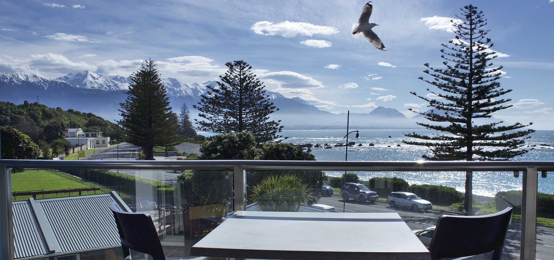 waterfront accommodation in Kaikoura