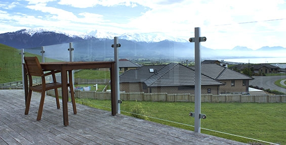 enjoy mountains and sea views from your private balcony