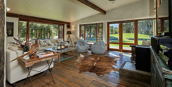relaxed modern country rustic living kanuka terrace