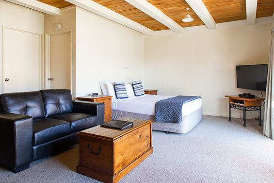 enjoy lovely lake views from your private balcony