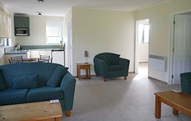 two-bedroom unit best suited for four guests