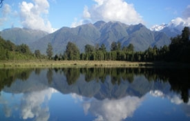 breathtaking views of Lake Matheson