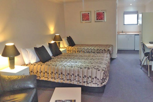 accommodation options available at Central Park Motor Inn