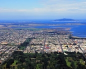 Image of Invercargill from the air in a plane, one of many things to do in Invercargill