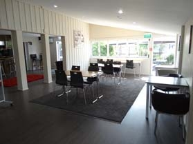 we also offer coffee, burgers, pizza and breakfast at our cafe