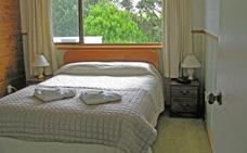 upstair unit with garden views