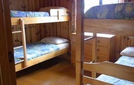 one room of 2-Bedroom Chalet has two sets of bunk beds
