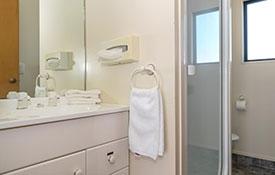 1-bedroom bathroom with shower